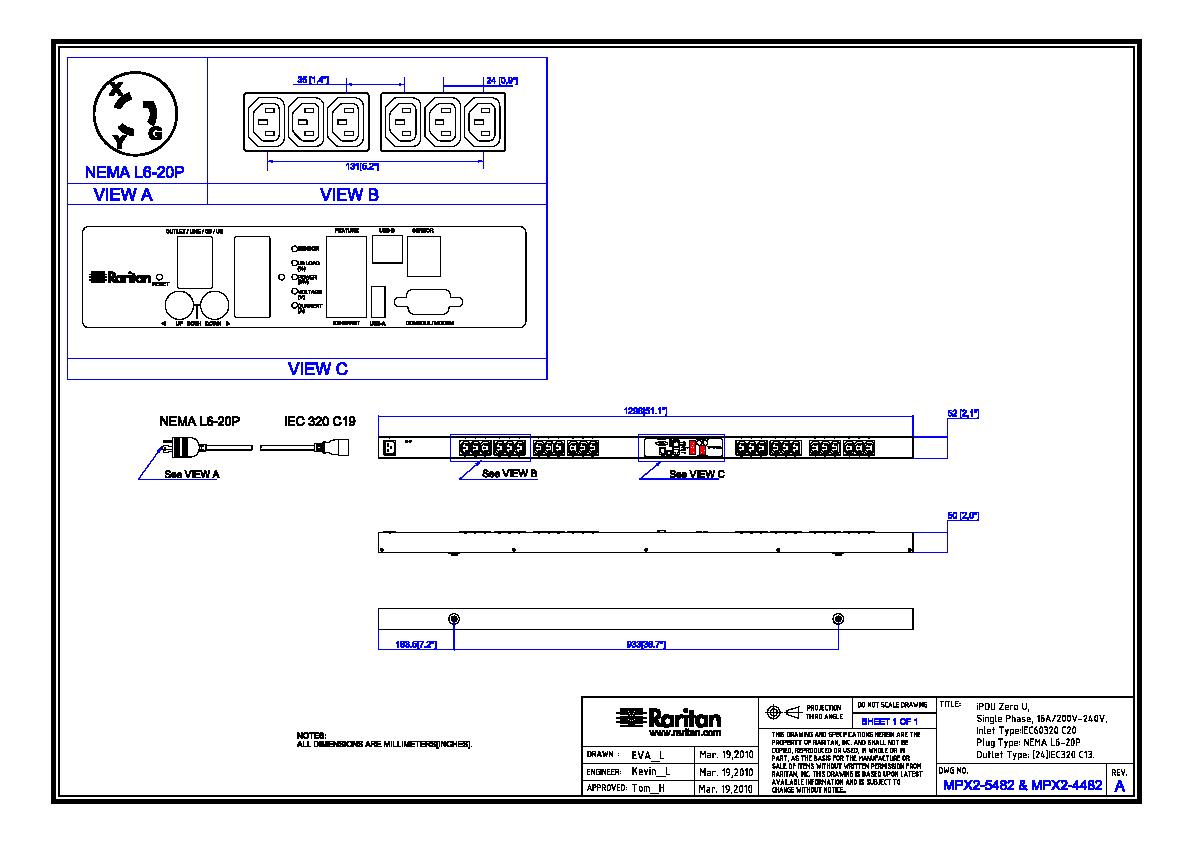 C19 Vs L6 20 Wiring Diagram 20p 30r L15 Rack Pdu Px2 5482 Product Selector Raritan C L